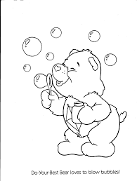 care bear coloring care pages bears print