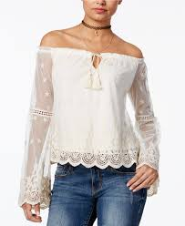 blouses for juniors rag the shoulder peasant top only at macy s