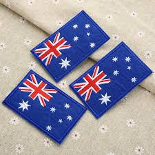 Country Flags Patches Country Australia National Flag Embroidery Iron On Patches Clothes