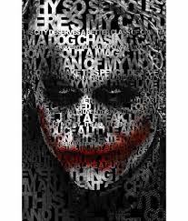 da vinci posters dark knight joker quote poster 12x19 inches