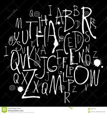 handwritten calligraphy and lettering alphabet black and white