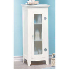 white tall bathroom cabinet slim storage tallboy unit 1 bamboo