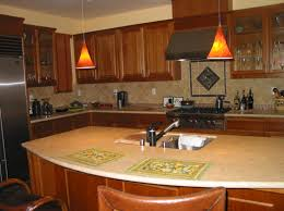 here are some odd kitchen islands that are rounded why round