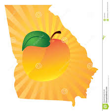 georgia state with peach color vector illustration stock vector