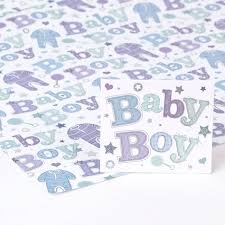baby boy wrapping paper blue foil baby boy wrapping paper gift tag only 69p