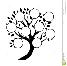 family tree design insert your photos into frames stock vector