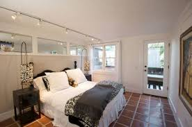 Track Lighting Bedroom Small Bedroom Illuminated With Track Lighting Fixtures The