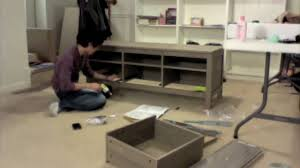 hemnes tv bench time lapse assembly tv stand youtube