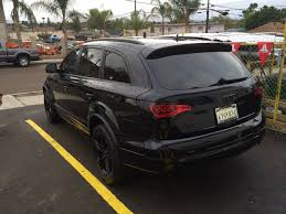 Audi Q7 Night Black - audi q7 blacked out joe u0027s stereo