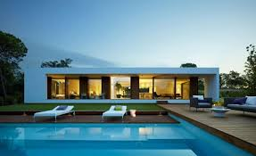 home design story pool modern plan of single storey house with contemporary outdoor