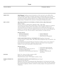 Sample Resume For A Job by Catering Manager Resume Berathen Com