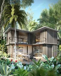 triptyque architecture introduces tempo a set of 9 houses in the