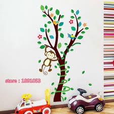 compare prices on monkey nursery decor online shopping buy low forest cute monkey pattern baby room wall stickers children s room bedroom sofa tv wall stickers nursery