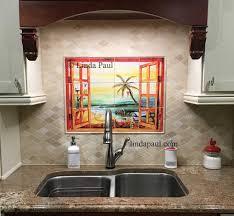 tile murals for kitchen backsplash ceramic tile kitchen backsplash murals laphotos co