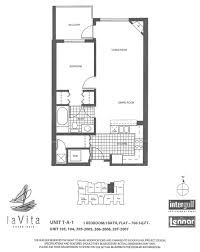 la vita mid rise m d 5 unit 701 706 view floor plan la vita tower a 1 unit 103 104 205 2005