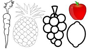 fruit coloring page youtube