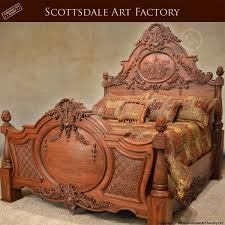 Carved Wooden Headboards Maharani Style Wooden Bed Ultimate Hand Carved Wood Design Along