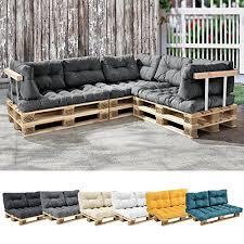 rembourrage canapé en casa 1x coussin de siège pour canapé d palette gris