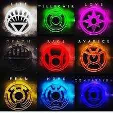 green lantern neon light what are all the lantern rings in dc what do they do and do they