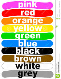 color names in english stock illustration image 91582460