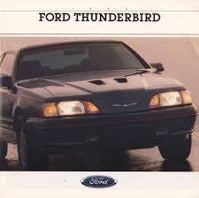 1989 Ford Thunderbird Ford 1988 Thunderbird Sales Brochure