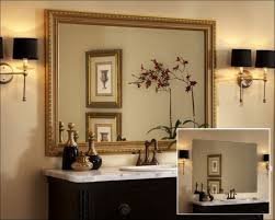 contemporary bathroom design with decorative wall mirror large