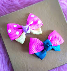 ribbon hair bow diy how to make ribbon bow hair clip