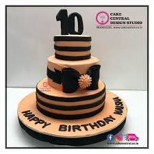 stripes cake delhi black u0026 pink stripes cake bow cake delhi