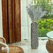 Silver Vase Wholesale Ceramic Modern Ceramic Home Decoration Silver Rose Large Floor