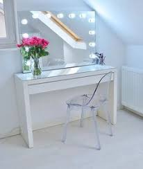 Narrow Makeup Vanity Table Makeup Organizing Vanity Table Use A Glass Topped Shelf From