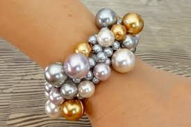 pearl bracelet tutorials images Homemade beginner jewelry making project a diy clustered pearl jpg