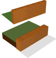 brickwork one brick walling
