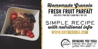 cuisine pro 27 granola and fresh fruit honey parfait on the goga