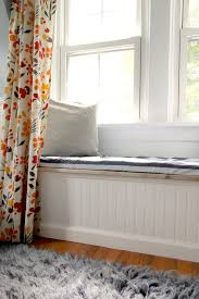 Orange And White Striped Rug Accessories Enchanting White Bay Window Seat With White Accent