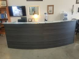 Espresso Reception Desk Curved Reception Desk Rooms