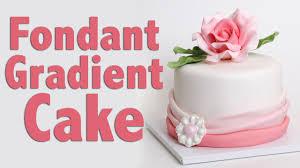 how to make a fondant ombré cake cake tutorial youtube