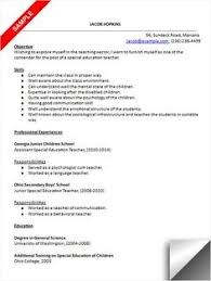 Resume For Teacher Sample by Download Preschool Teacher Resume Sample Resume Examples