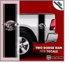 Dodge Ram Decals - dodge ram rumble bee rear bed vinyl decal wrap stripes truck