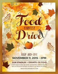 food drive template free thanksgiving flyer template free