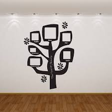 personalised family tree photo wall sticker almo art personalised family tree photo wall sticker