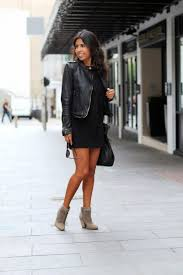style motorcycle boots 9 ways to style your little black dress the everygirl