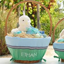 personalized easter basket liners get ready to fill these adorable easter baskets project nursery