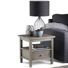 Storage End Tables For Living Room Gray Simpli Home Accent Tables Living Room Furniture The