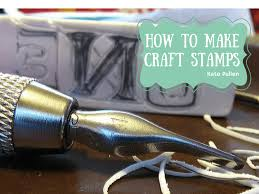 make your own custom craft stamps