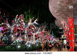 Christmas Decorations Online Singapore by Street Christmas Decorations In Orchard Road Singapore Stock