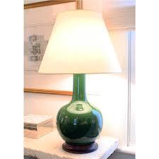 pair of christopher spitzmiller large single gourd lamps in dark