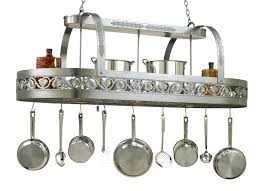 oil rubbed bronze pot rack with lights charming hanging pot rack with lights somerefo org