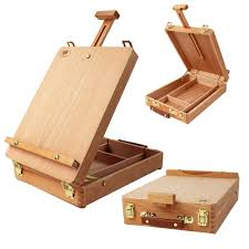 artwork wooden artist s painting drawing table top desk box