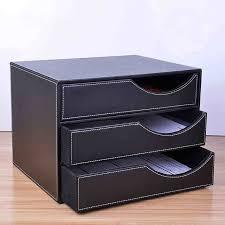 classeur bureau bois en cuir 3 tiroir a4 de bureau classeur bureau table document
