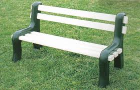 park benches amish vinyl park bench from dutchcrafters amish furniture